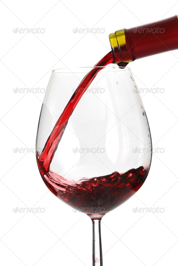 Pouring wine - Stock Photo - Images