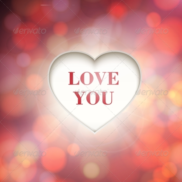 Heart with Bokeh Background - Valentines Seasons/Holidays