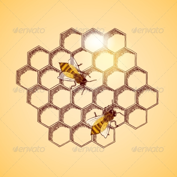 Honeycomb Background - Backgrounds Decorative