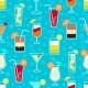 Seamless Drinks Pattern - GraphicRiver Item for Sale