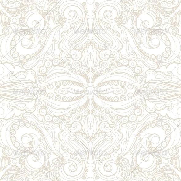 Seamless Vintage Pattern - Backgrounds Decorative