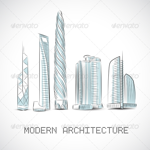 Skyscrapers - Buildings Objects
