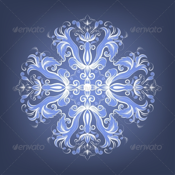 Vintage Elegant Background with Lace Ornament - Patterns Decorative