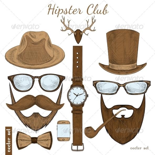 Hipster Accessories  - Decorative Symbols Decorative
