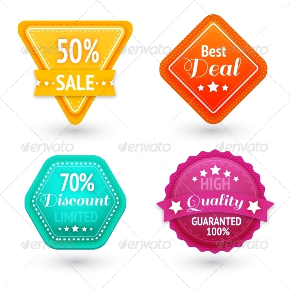 Sale Signs and Symbols Set - Retail Commercial / Shopping