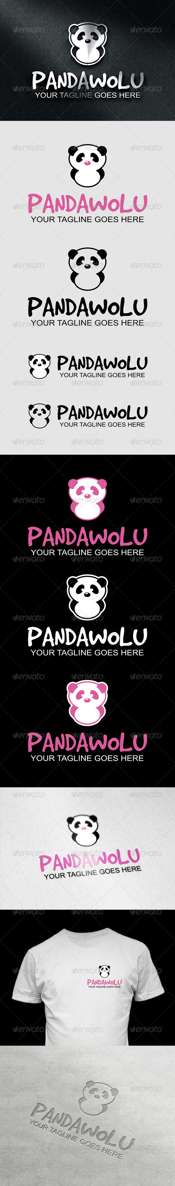 PandaWolu Logo - Animals Logo Templates