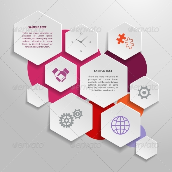 Paper Business Infographics Design Elements - Web Elements Vectors