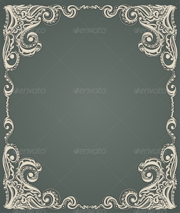 Abstract Floral Retro Pattern - Backgrounds Decorative