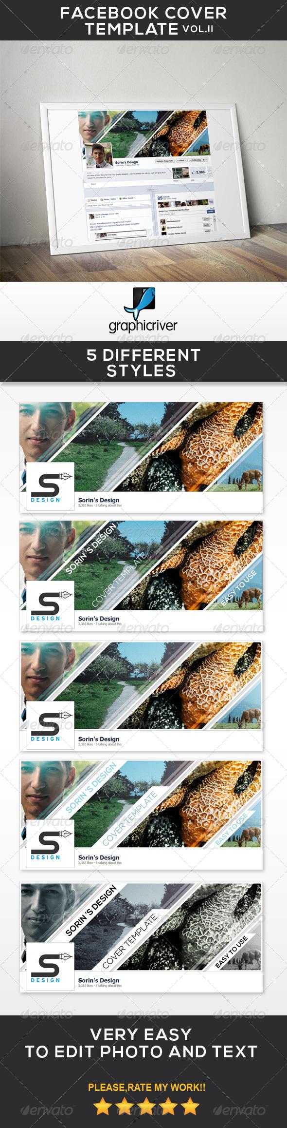 Facebook Cover Template Vol.II - Facebook Timeline Covers Social Media