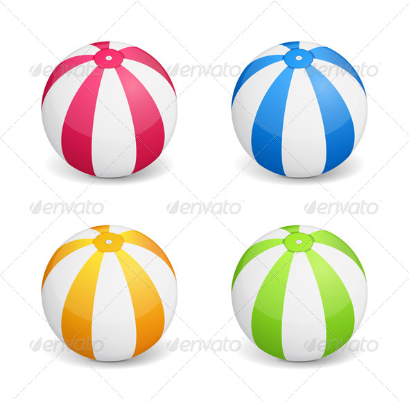 Beach Ball - Objects Vectors