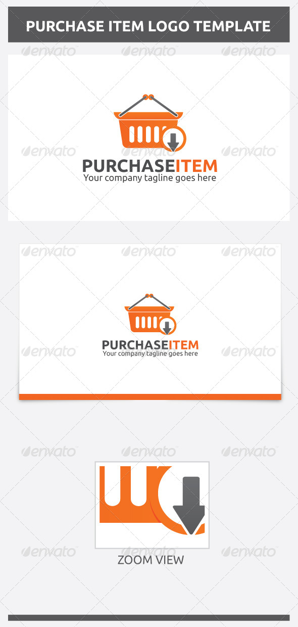 Purchase Item Logo - Objects Logo Templates