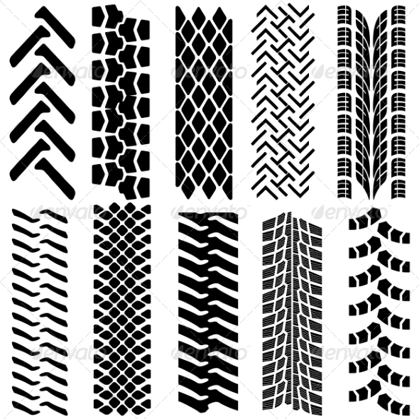 Tire Prints - Web Elements Vectors