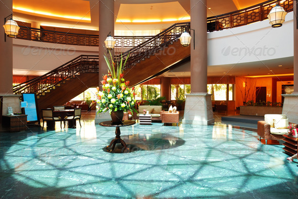 Luxury hotel lobby - Stock Photo - Images