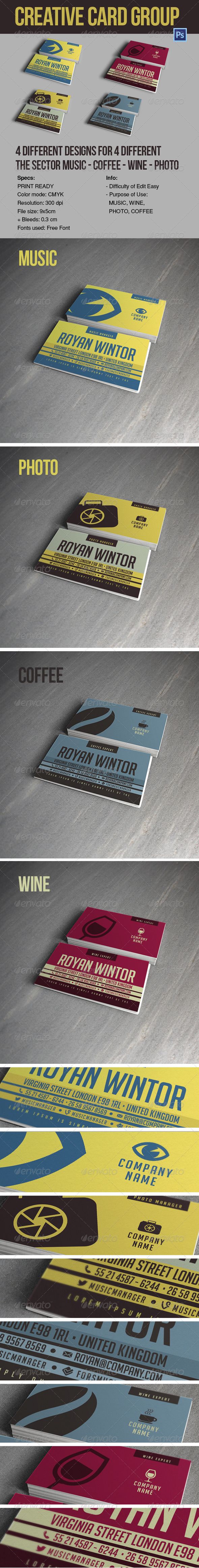 CREATIVE CARD GROUP YMC DESIGN - Creative Business Cards