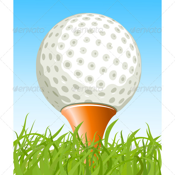 Golf Ball on the Grass - Sports/Activity Conceptual