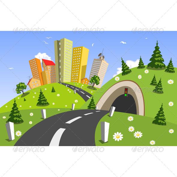 Summer Vector City - Landscapes Nature