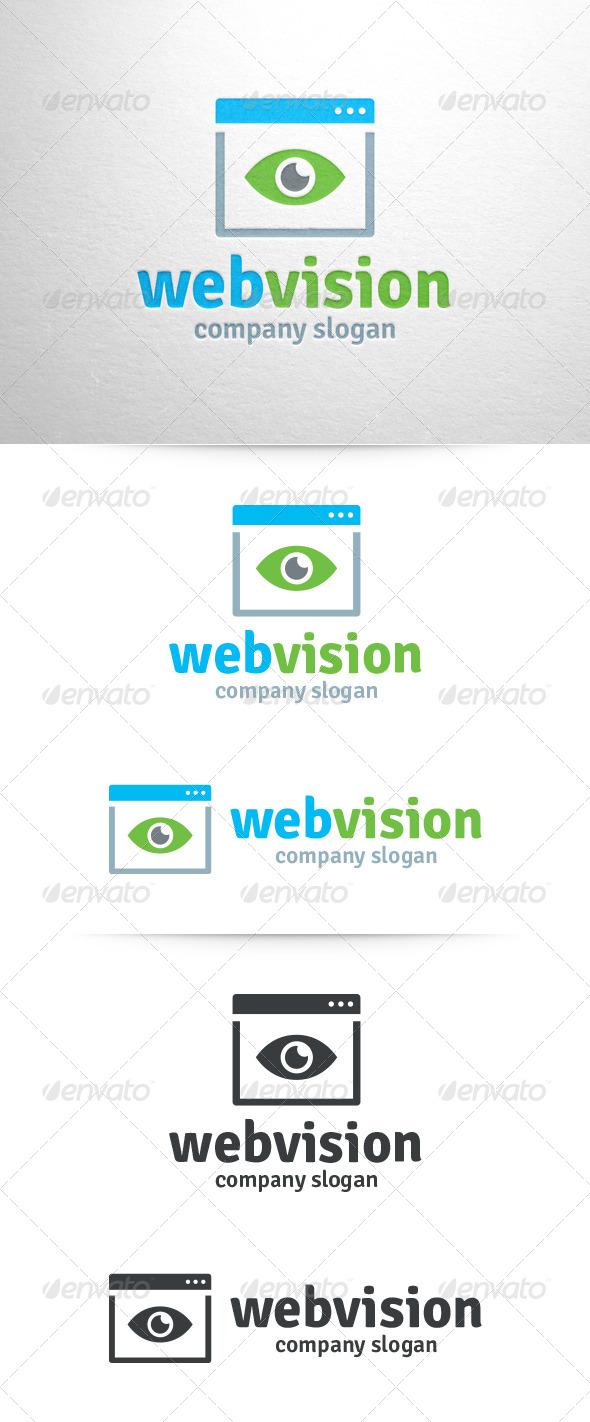 Web Vision Logo Template - Symbols Logo Templates