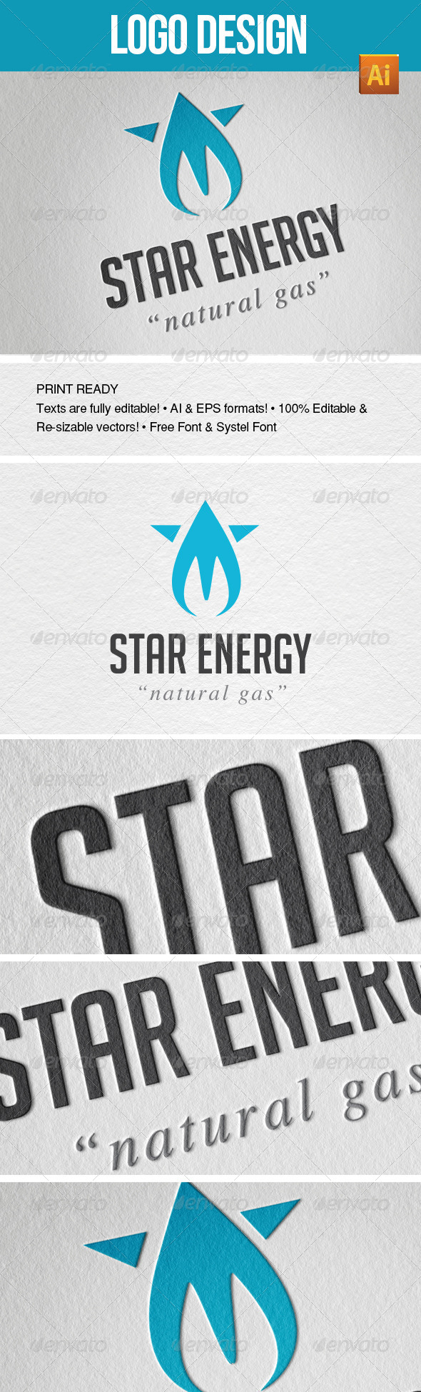 Star Energy - Nature Logo Templates