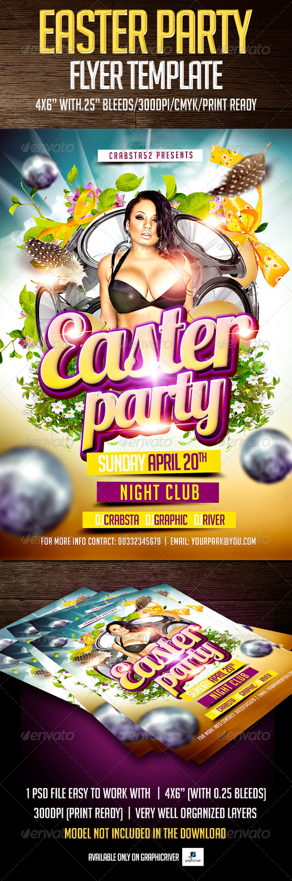 Easter Party Flyer Template - Events Flyers
