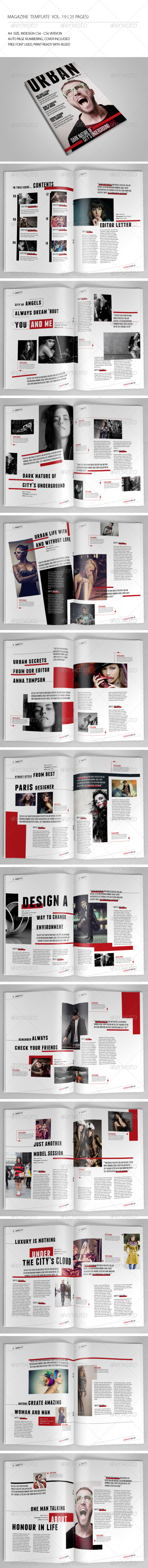 25 Pages Urban Magazine Vol19 - Magazines Print Templates
