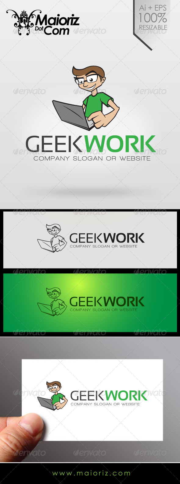 Geek Work Business Logo - Humans Logo Templates