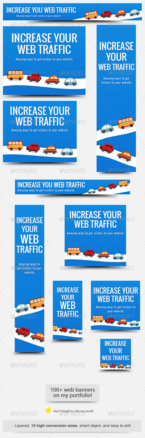 Web Traffic Web Banner - Banners & Ads Web Elements