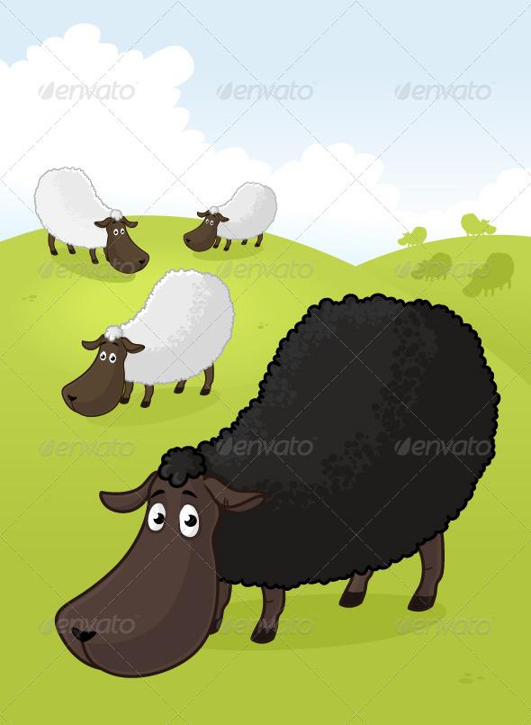 Black Sheep - Animals Characters