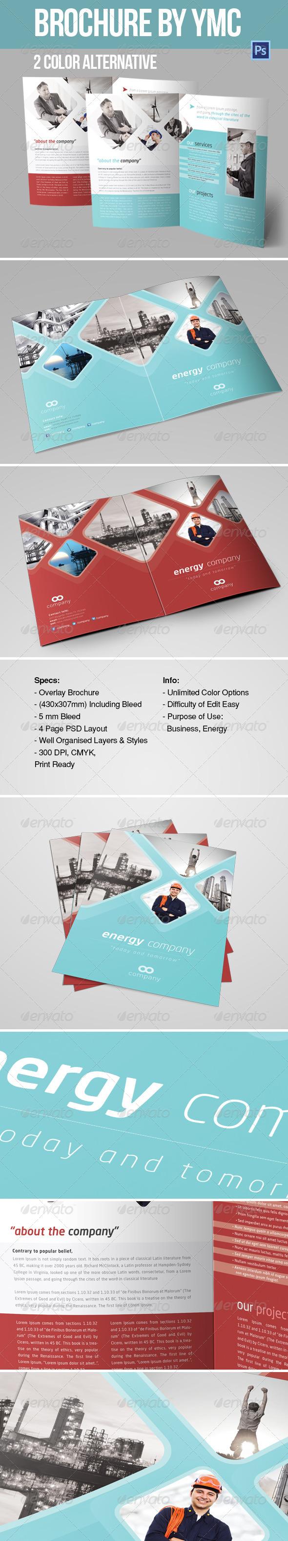 A4 BROCHURE /  CORPORATE / YMC DESIGN - Print Templates