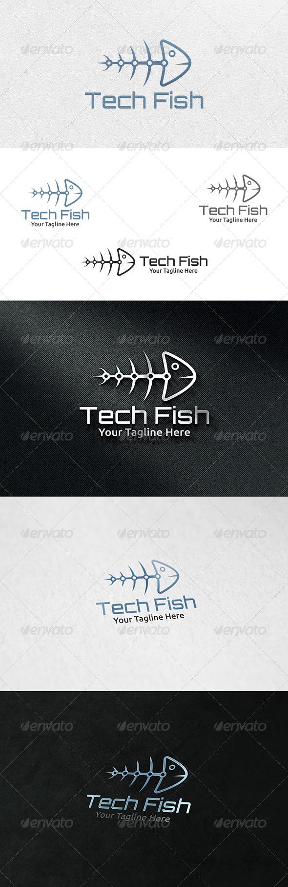 Tech Fish - Logo Template - Symbols Logo Templates