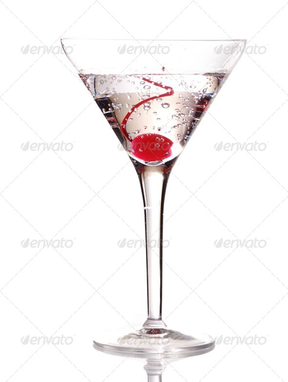 Martini with Cherry - Stock Photo - Images