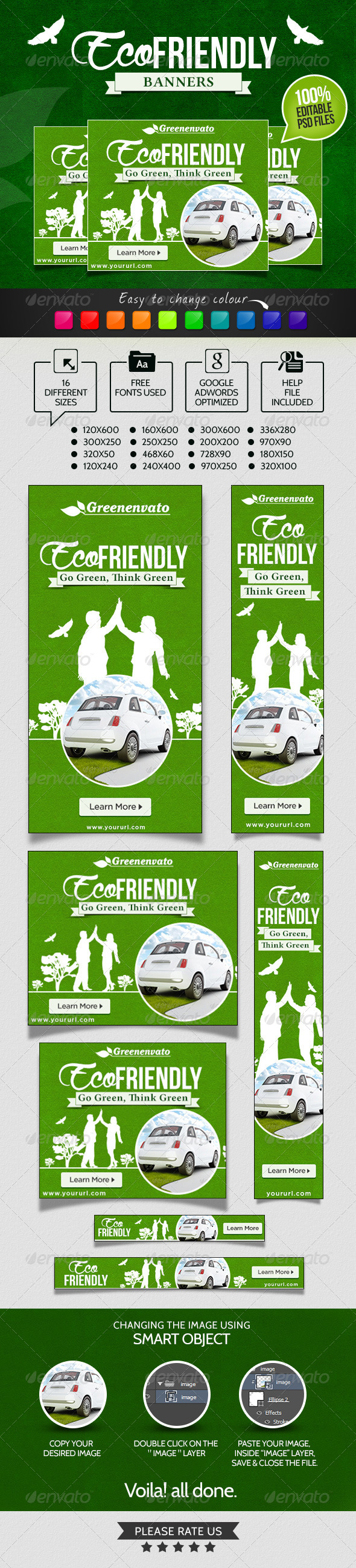 Banners for Eco Friendly Products - Banners & Ads Web Elements