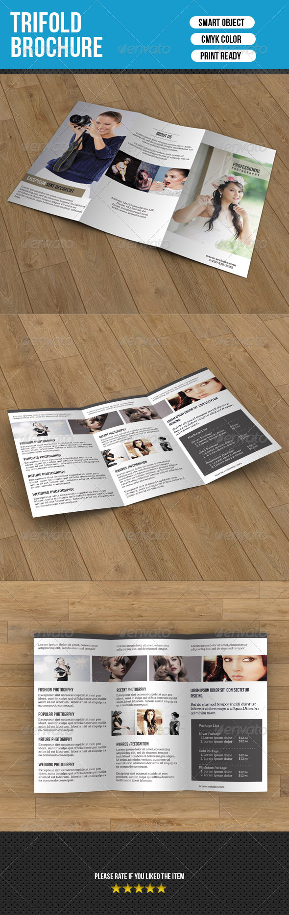 Trifold Brochure for Photography - Corporate Brochures