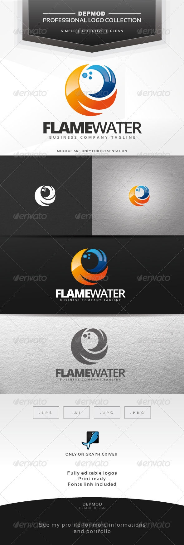 Flame Water Logo