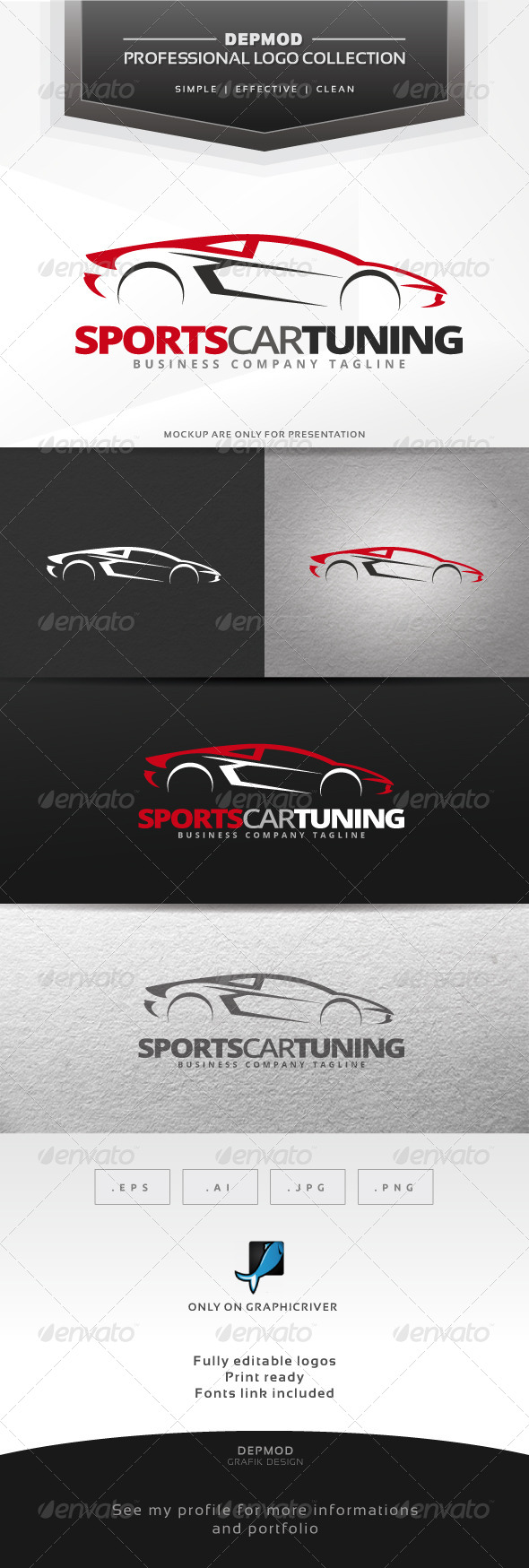 Sports Car Tuning Logo