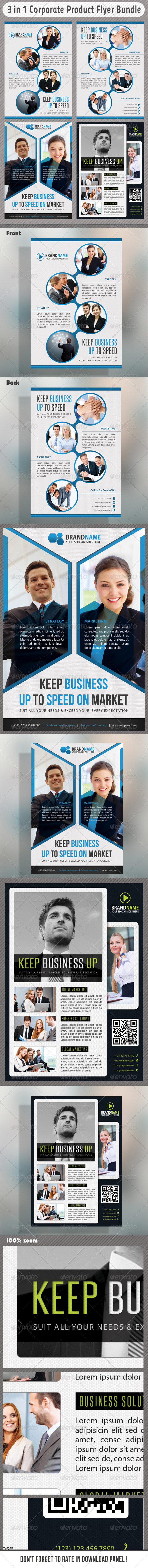 3 in 1 Corporate Flyers Bundle 09 - Events Flyers