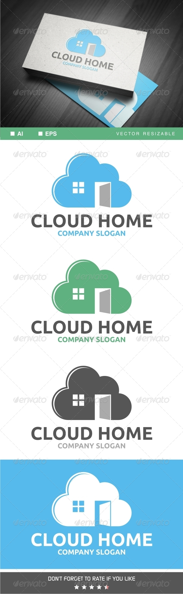 Cloud Home Logo  - Symbols Logo Templates