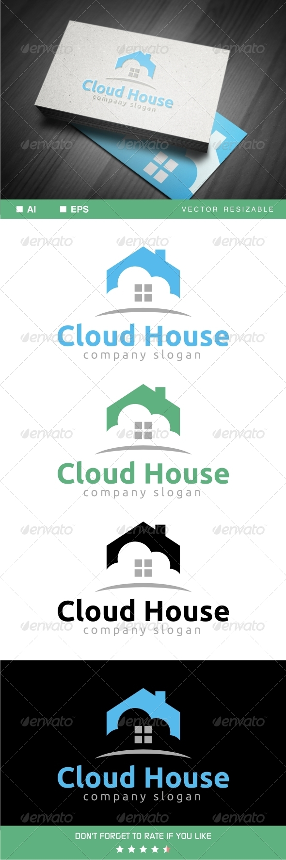 Cloud House Logo - Symbols Logo Templates