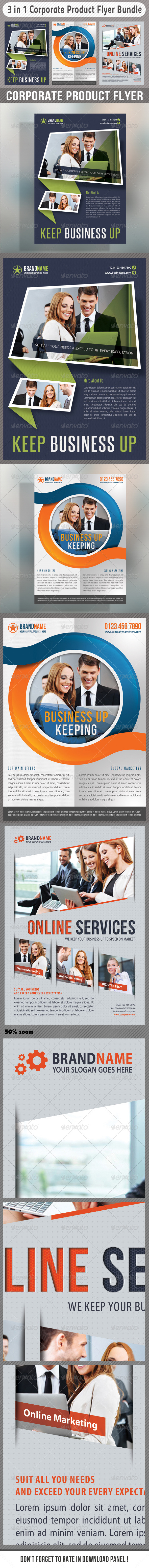3 in 1 Corporate Flyers Bundle 10 - Events Flyers
