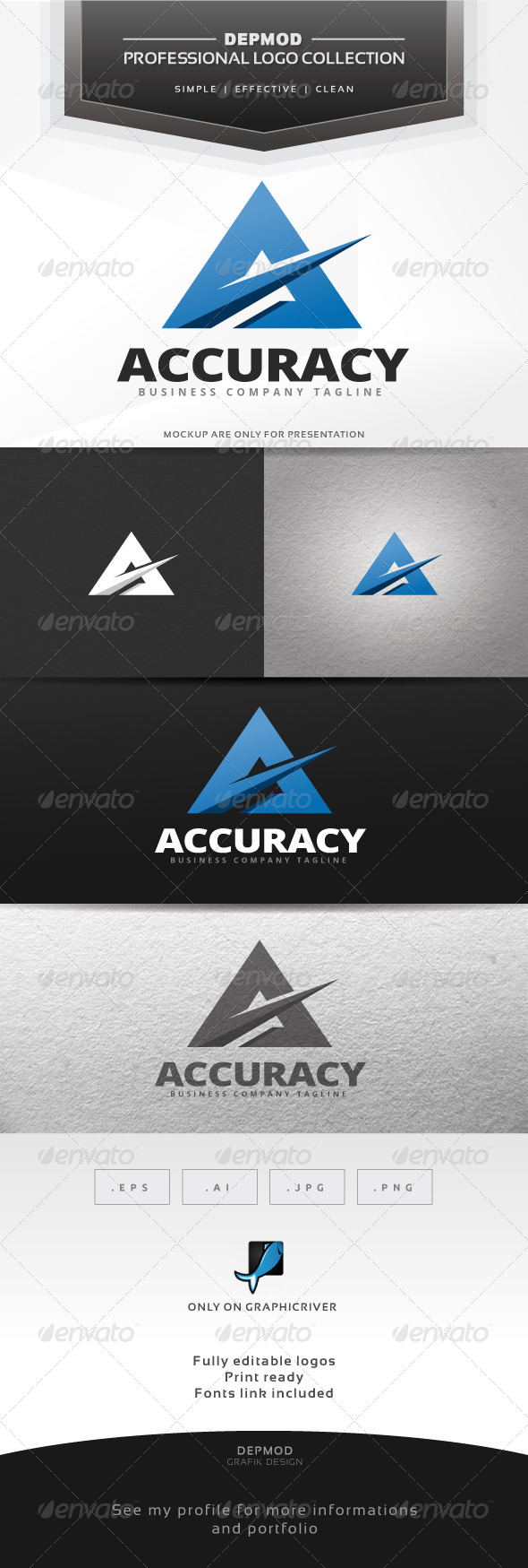 Accuracy Logo - Letters Logo Templates