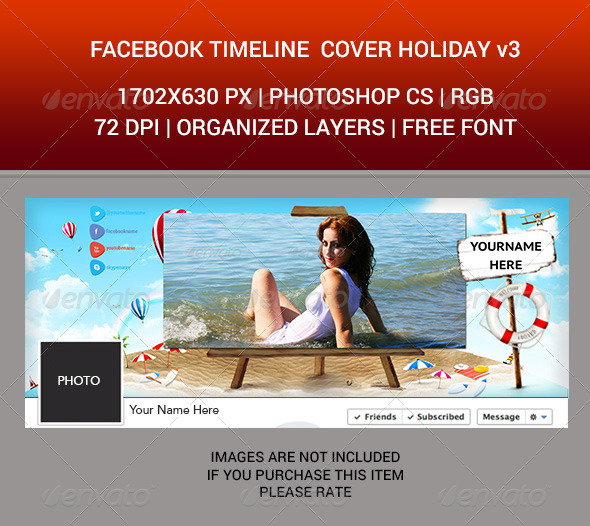 Facebook Timeline Cover Holiday v3 - Facebook Timeline Covers Social Media