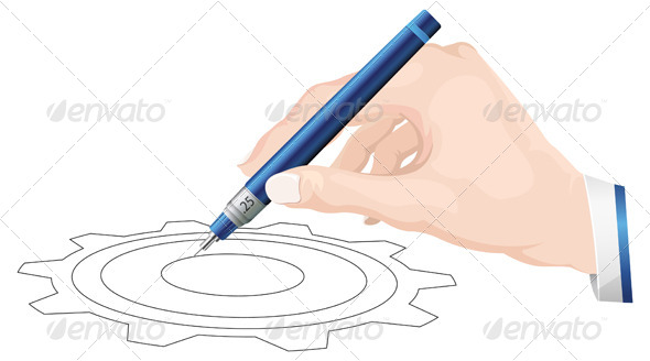 Technical Drawing Illustration - Technology Conceptual