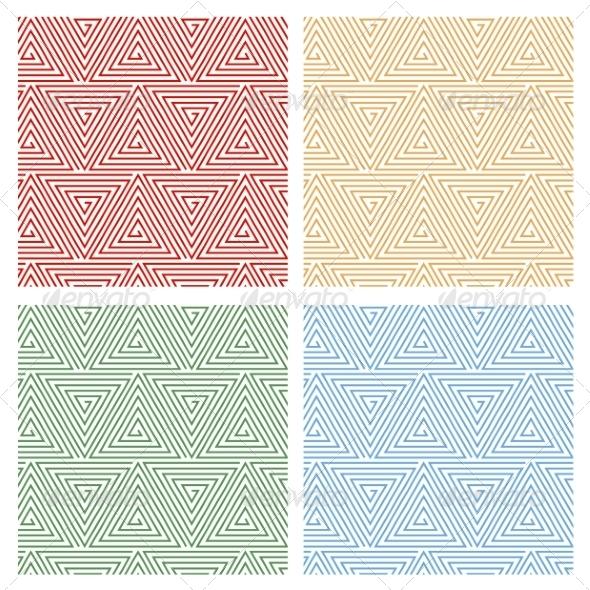 Multicolored Hypnotic Background Seamless Pattern - Web Technology