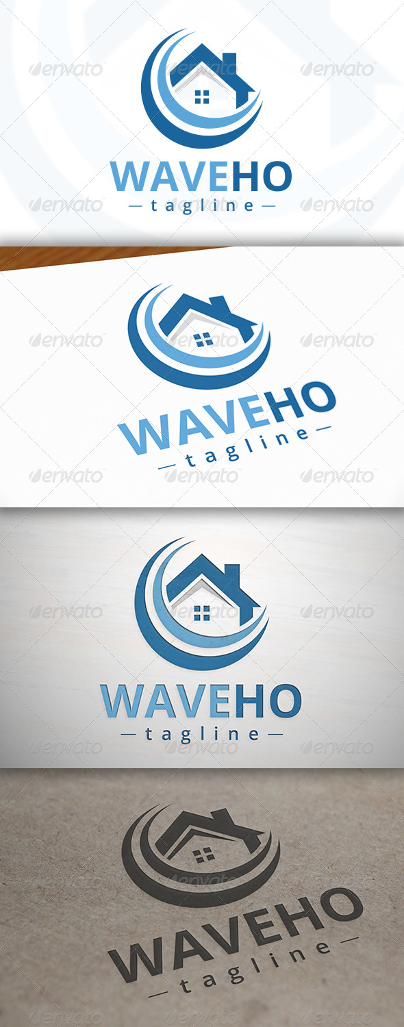 Wave Home Logo - Buildings Logo Templates
