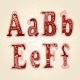 Love the Alphabet with Ornamental Letters - GraphicRiver Item for Sale