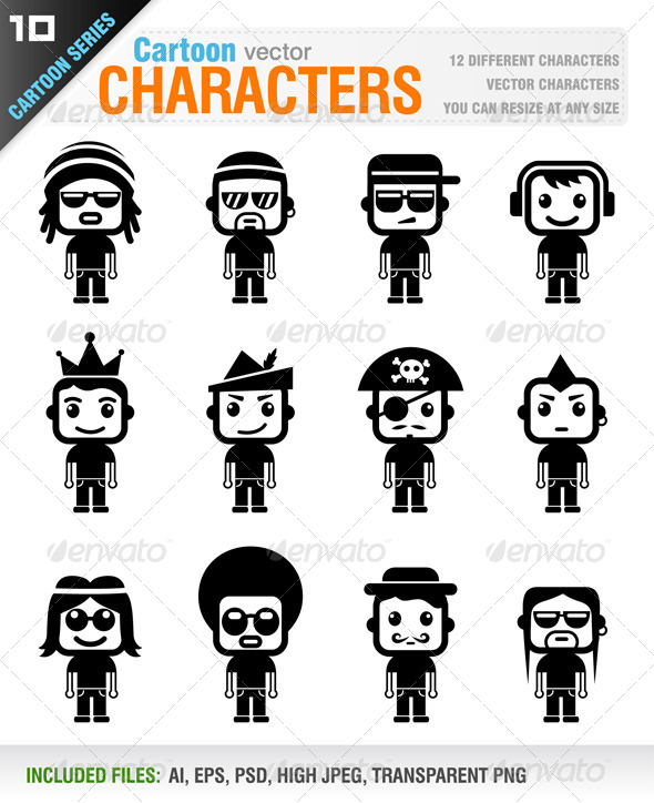 Cartoon Characters - People Characters
