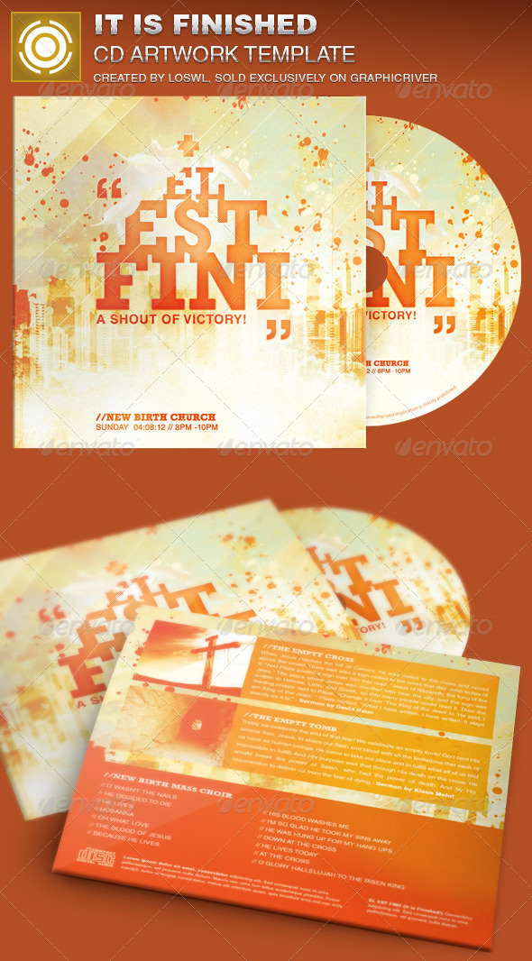 It is Finished CD Artwork Template - CD & DVD Artwork Print Templates