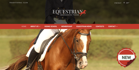 Equestrian – Horses & Stables WordPress Theme