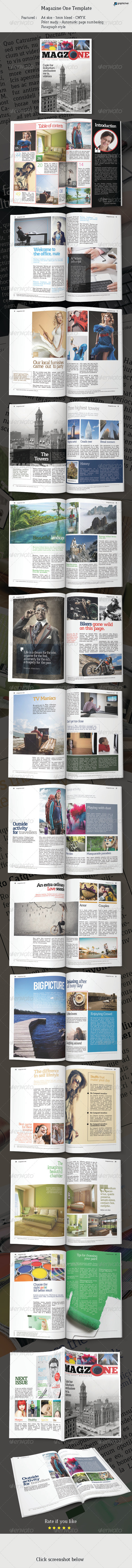 Magazine One Template - Magazines Print Templates