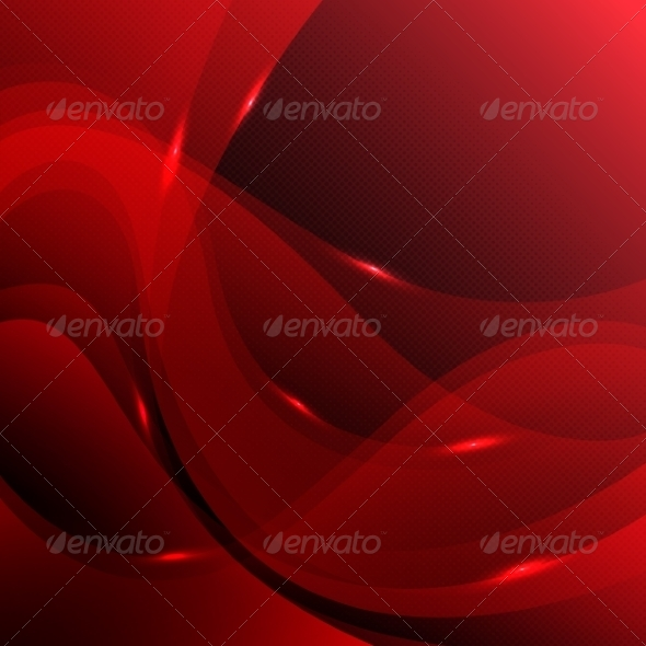 Red Abstract Background - Backgrounds Decorative