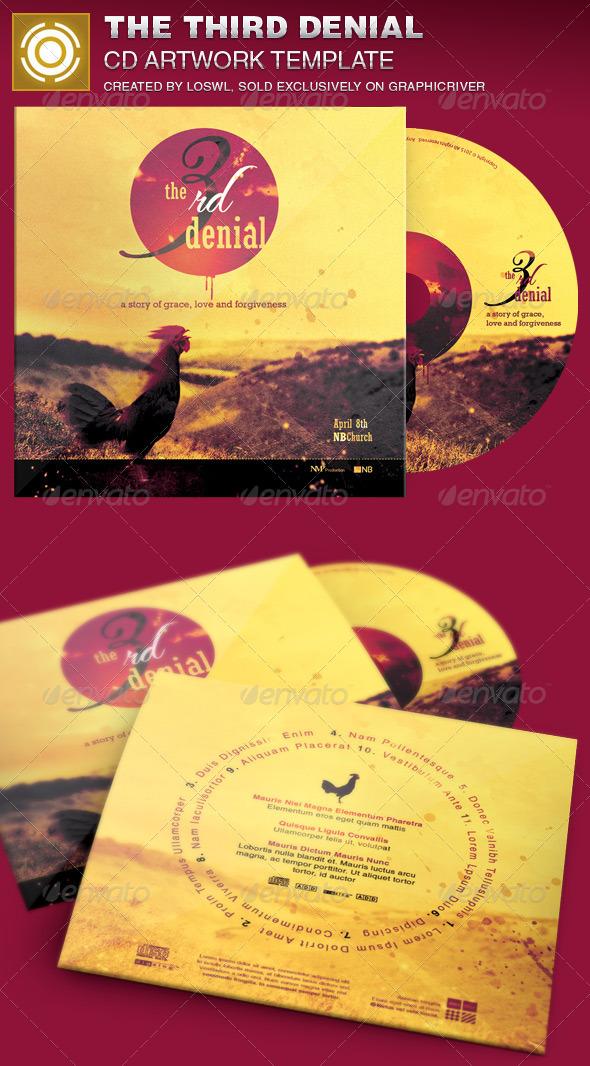 The Third Denial CD Artwork Template - CD & DVD Artwork Print Templates